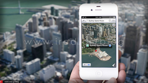 Apple Maps Flyover σε iPhone 1