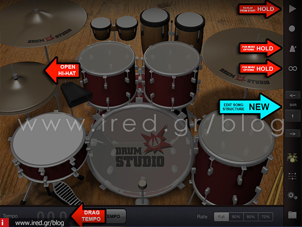 17-ired-iPad as music studio 3-drumstudio