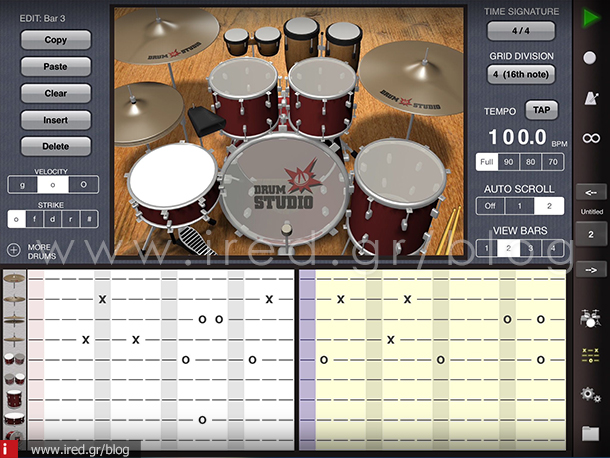 18-ired-iPad as music studio 3-drumstudio