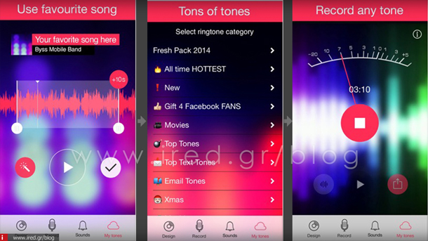 ired iphone ringtones apps 08 th