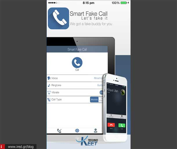 ired ios apps smart fake call app 01