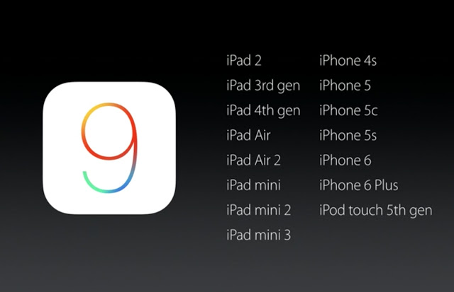 iOS 9 Supported devices
