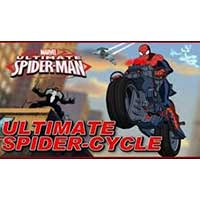 Play Spider Man : Ultimate Spider-cycle game now!