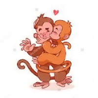CUTE MONKEY KISSING