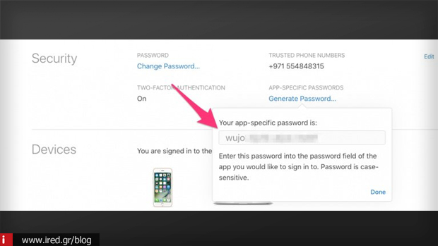 5 app specific password