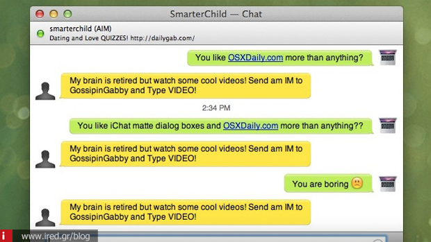 3 iChat messages