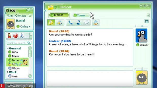 4 ICQ messages social