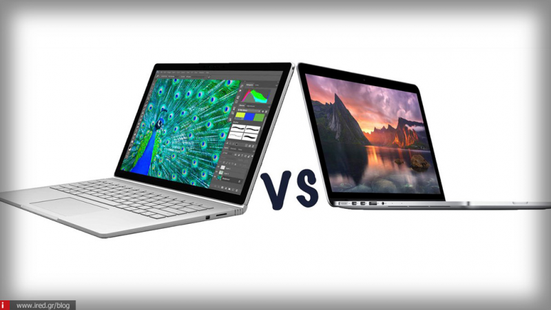 Συγκριτικό: MacBook Pro vs Microsoft Surface Book 2