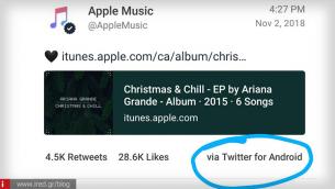 Την... πάτησε η Apple Music: Δημοσίευσε tweet μέσω Android συσκευής!