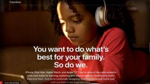 """Νέα σελίδα """"Families"""" από την Apple με συμβουλές προστασίας προς τους γονείς για τα παιδιά"""