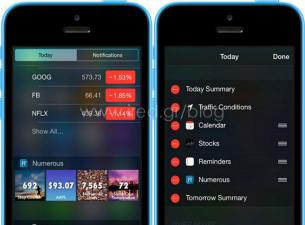 iOS 8 - Χρήσιμα νέα Widget