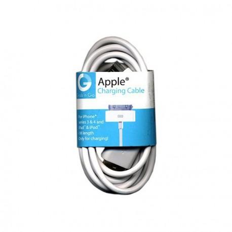 Καλώδιο Φορτιστής & Data GNG iPhone 4/4s Άσπρο