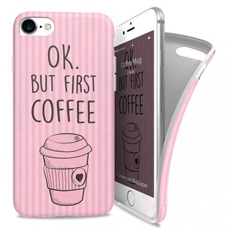 iPaint Hard Case Coffee + Skin iPhone 6/6S Ροζ