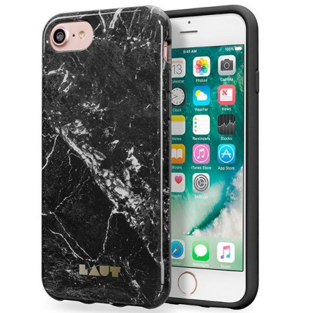 Laut Case Huex Elements Marble Black iPhone 7 Μαύρο