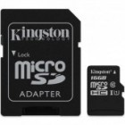 Kingston 16GB Micro SDHC Memory Card Class 10 UHS-1 SD Adapter 45MB/s