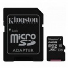 Kingston 64GB Micro SDHC Memory Card Class 10 UHS-1 SD Adapter 45MB/s